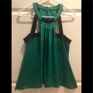 BCBG MaxAzria Emerald Green Sleeveless Blouse